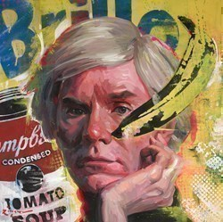 Andy Warhol by Zinsky -  sized 32x32 inches. Available from Whitewall Galleries